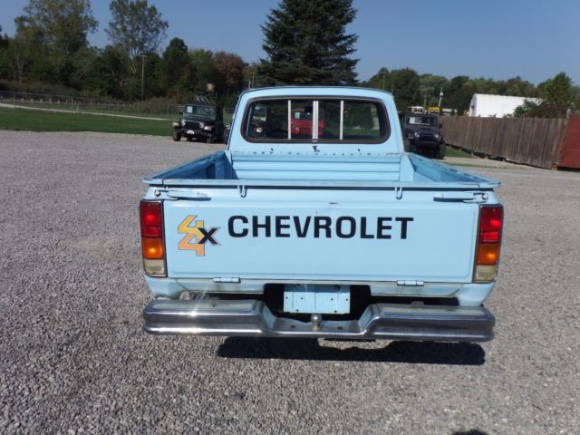 1980 chevy luv mikado 4x4 pickup truck chevrolet four wheel drive pick up for sale chevrolet. Black Bedroom Furniture Sets. Home Design Ideas