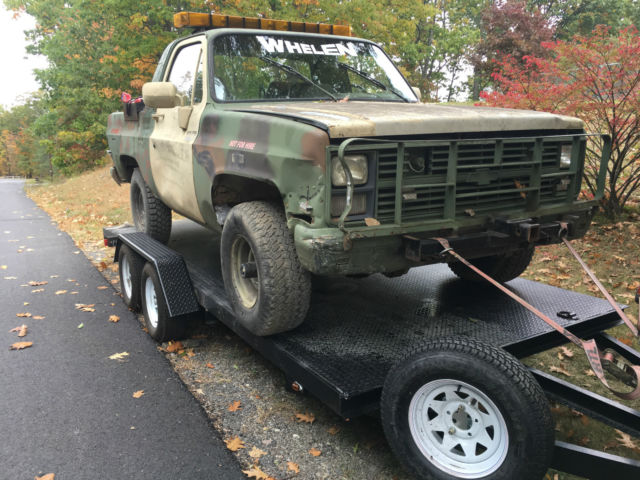 1980 CHEVY MILITARY 6 2 DIESEL 4X4 TOW TRUCK RAT HOT ROD ARMY