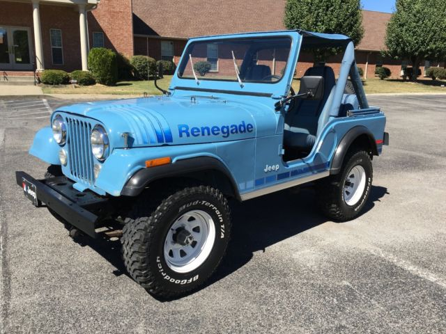 1980 Jeep Cj5 Renegade Teal Blue For Sale