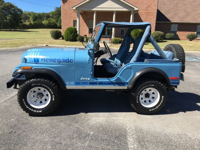 1980 jeep cj5 renegade teal blue for sale jeep cj 1980 for sale in spring hill tennessee. Black Bedroom Furniture Sets. Home Design Ideas