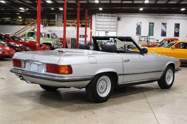 1980 mercedes benz 450 sl 93550 miles silver convertible 4 5 liter v8 automatic for sale. Black Bedroom Furniture Sets. Home Design Ideas