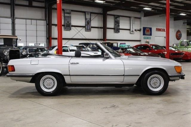 1980 mercedes benz 450 sl 93550 miles silver convertible 4 for Mercedes benz sl convertible for sale