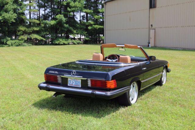 1980 mercedes benz 450sl r107 convertible roadster black for Mercedes benz winston salem north carolina