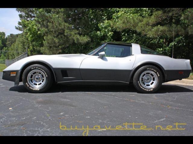 1980 silver charcoal corvette buyavette inc atlanta for sale chevrolet corvette coupe 1980 for. Black Bedroom Furniture Sets. Home Design Ideas