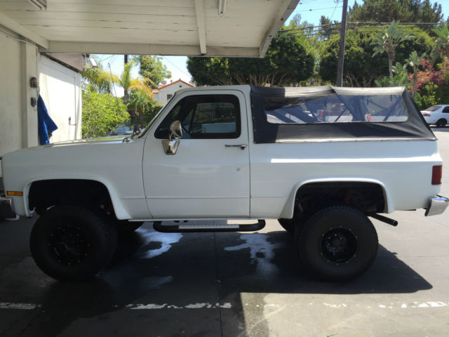 1981 Chevy Blazer K5 Truck White W Black Soft Top