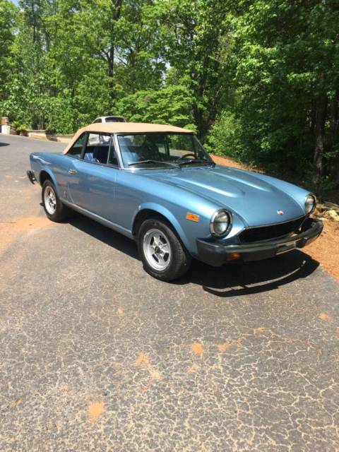 1981 classic fiat 124 spider 2000 for sale fiat 124 spider 1981 for sale in suwanee georgia. Black Bedroom Furniture Sets. Home Design Ideas