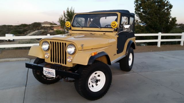 Stupendous 1981 Jeep Cj5 Base Sport Utility 2 Door 4 2L For Sale Jeep Cj5 Wiring Cloud Peadfoxcilixyz