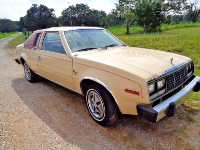 1982 Amc Concord Dl 2 Door Nutmeg Vinyl Top Beige