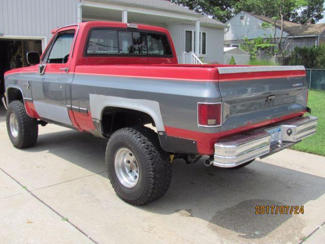 1982 chevrolet k 10 pickup 4wd 4 speed manual transmission. Black Bedroom Furniture Sets. Home Design Ideas