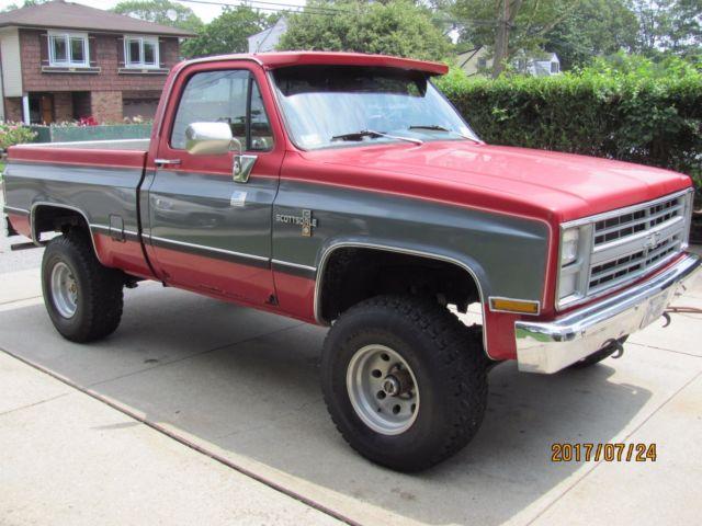 1982 chevrolet k 10 pickup 4wd 4 speed manual transmission for sale chevrolet other pickups. Black Bedroom Furniture Sets. Home Design Ideas