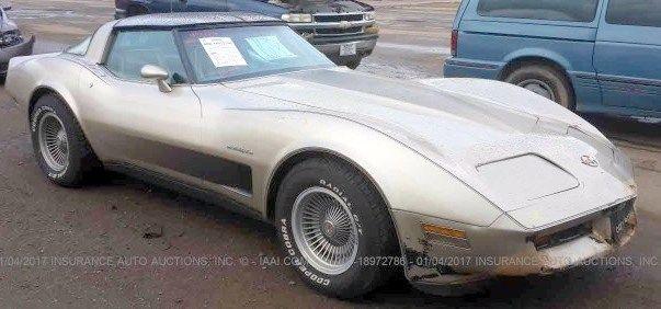 1982 corvette collector corvette light project clean title for sale chevrolet corvette 1982. Black Bedroom Furniture Sets. Home Design Ideas