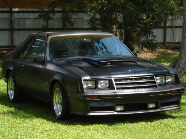 1982 ford mustang gt the boss is back black on black. Black Bedroom Furniture Sets. Home Design Ideas