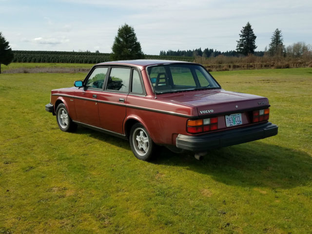 1982 volvo 244 turbo non intercooled redwood red tan interior 196 000 miles for sale volvo 240. Black Bedroom Furniture Sets. Home Design Ideas