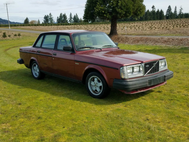1982 Volvo 244 turbo non intercooled redwood red tan interior 196,000 miles for sale - Volvo 240 ...