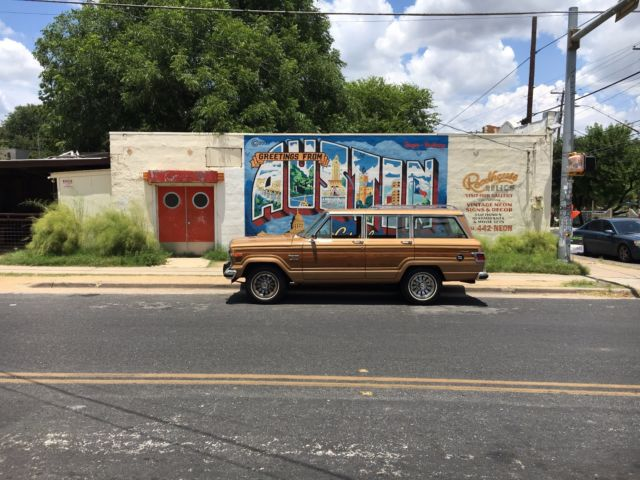 1983 jeep grand wagoneer celebrity owned for sale jeep wagoneer 1983 for sale in austin texas. Black Bedroom Furniture Sets. Home Design Ideas