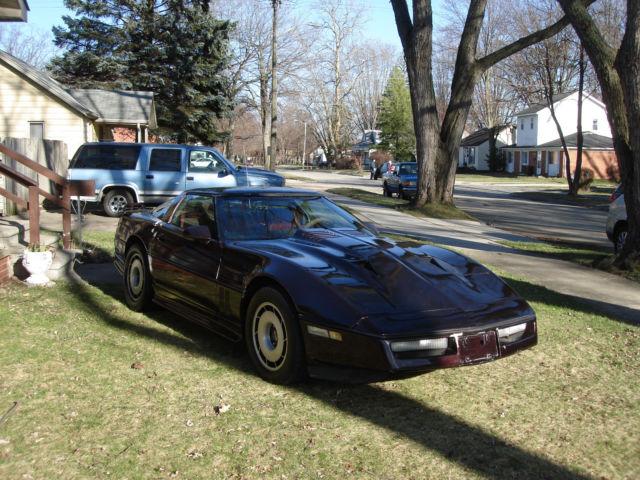1984 c4 corvette black cherry greenwood body kit runs drives good low price for sale chevrolet - Kit carrosserie c4 coupe ...