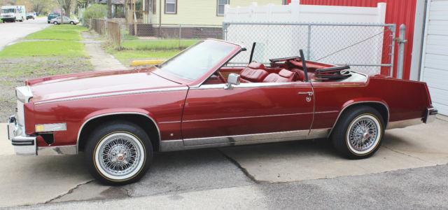 1984 cadillac eldorado biarritz 2 door convertible maroon for sale cadillac eldorado. Black Bedroom Furniture Sets. Home Design Ideas