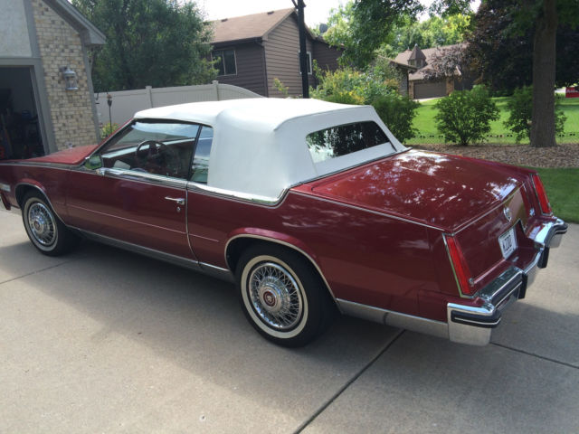 1984 cadillac eldorado convertible 12 000 mile one owner car mint condition for sale. Black Bedroom Furniture Sets. Home Design Ideas