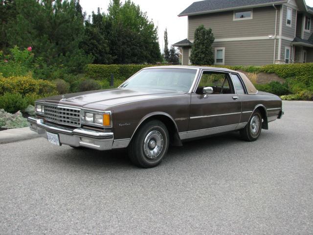 1984 chevrolet caprice classic 2 door coupe 48 000 original miles mint interior for sale. Black Bedroom Furniture Sets. Home Design Ideas