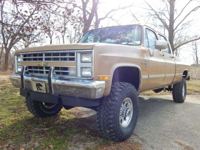 1984 chevrolet k30 crew cab scottsdale 454 big block lifted rust free truck for sale. Black Bedroom Furniture Sets. Home Design Ideas