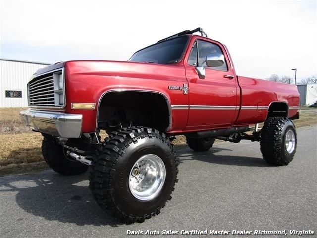 Chevy Scottsdale Lifted >> 1984 Chevrolet Pickup C K 10 Lifted 4X4 Regular Cab 135778 Miles Maroon Pickup for sale ...