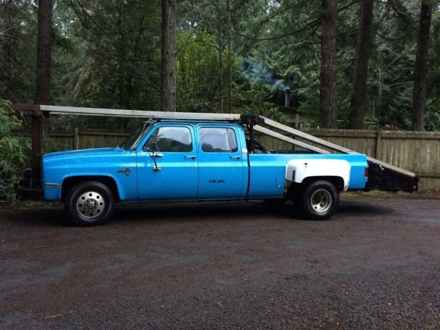 1984 chevy 3500 ramp truck car hauler wrecker flatbed for sale