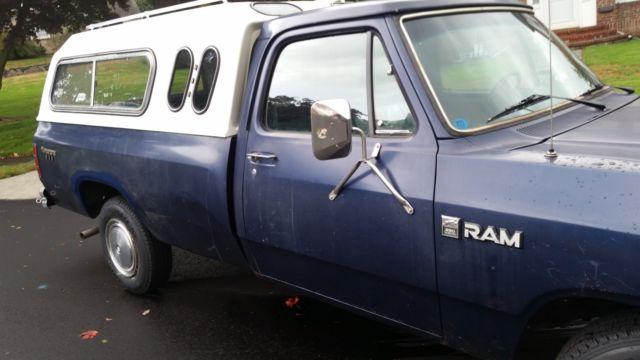 Norwalk Auto Auction >> 1984 DODGE D250 Ram 3/4 ton, auto, 8' bed with Cap,No reserve! for sale - Dodge Other Pickups ...