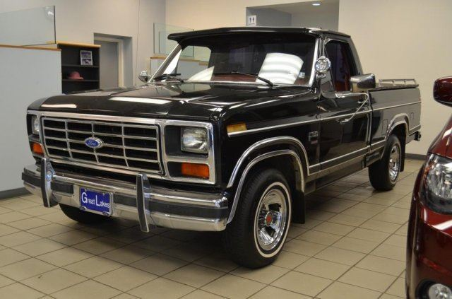 1984 ford f150 reg cab automatic v 8 black short bed classic antique xlt for sale ford f 150. Black Bedroom Furniture Sets. Home Design Ideas