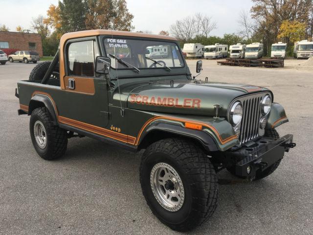 1984 jeep cj8 laredo scrambler new motor removable hard top original paint for sale jeep. Black Bedroom Furniture Sets. Home Design Ideas