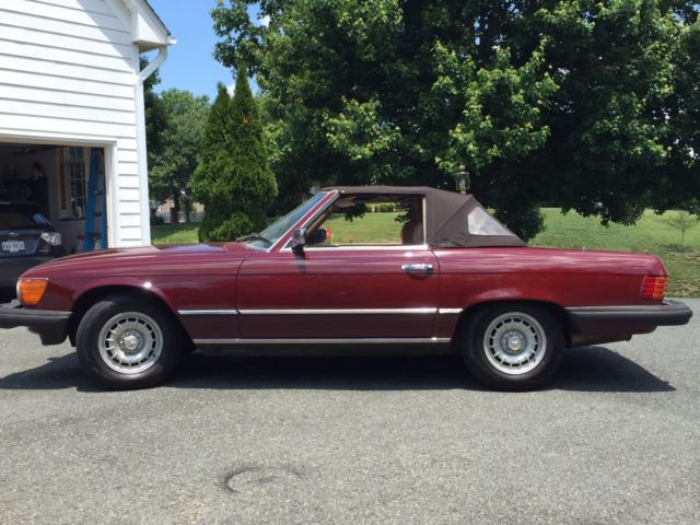 1984 mercedes 380sl 380 sl convertible with hardtop for for Mercedes benz sl convertible for sale