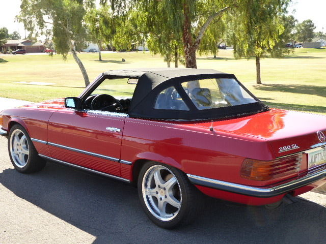 1984 mercedes benz 280sl euro convertible for sale for Mercedes benz sl coupe for sale