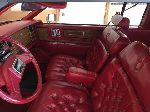 1984 white cadillac eldorado barritz with red interior and low mileage must sell for sale. Black Bedroom Furniture Sets. Home Design Ideas