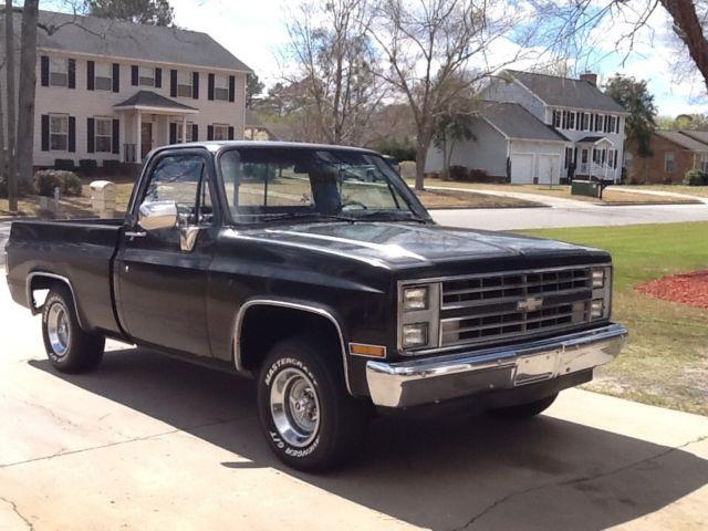 1985 Black Chevrolet Silverado Short Bed Truck for sale