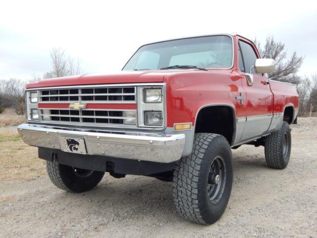 1985 chevrolet k10 silverado rare factory 350 v 8 lifted rust free truck for sale. Black Bedroom Furniture Sets. Home Design Ideas