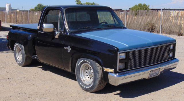 1985 Chevrolet Silverado C10 Black Pick Up Truck for sale