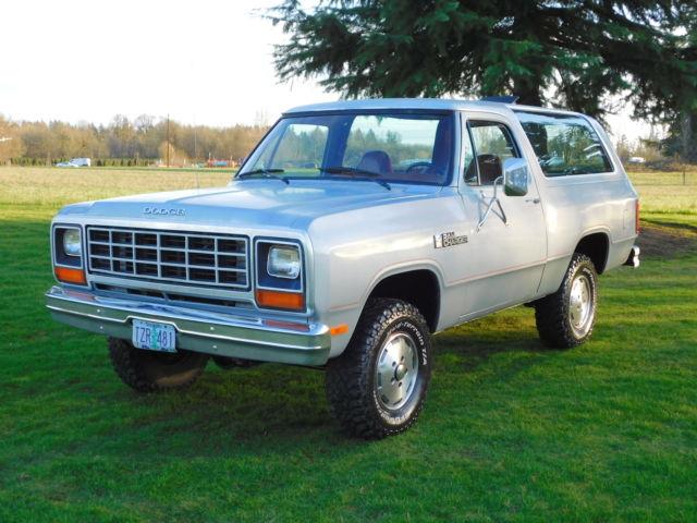 1985 Dodge Ramcharger Sport Utility 2 Door 5 2l Gas V8
