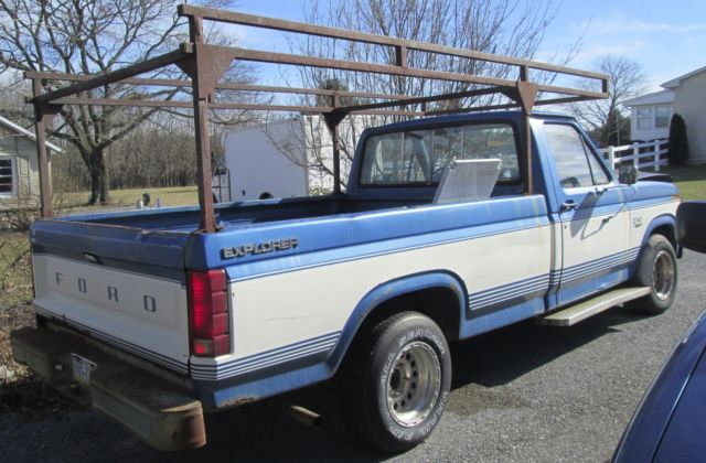 1985 Ford F 150 Pickup Truck With Ladder Rack Runs Good