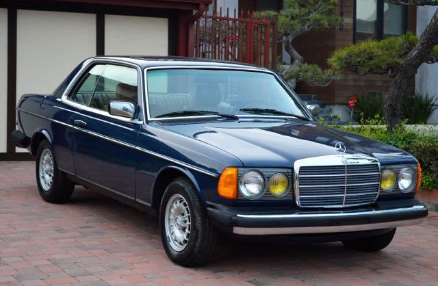 1985 mercedes 300cd turbo diesel coupe gorgeous blue with for Mercedes benz 300cd for sale