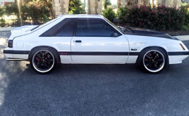 1985 mustang gt white for sale ford mustang gt 1985 for sale in san antonio texas united. Black Bedroom Furniture Sets. Home Design Ideas