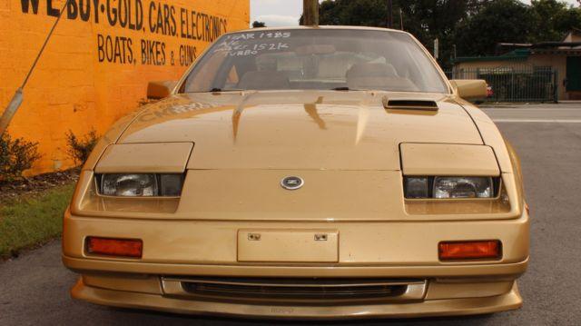 1985 Nissan 300ZX TURBO New Fresh Paint 152k OG Miles Gold 5SPD Cold ...