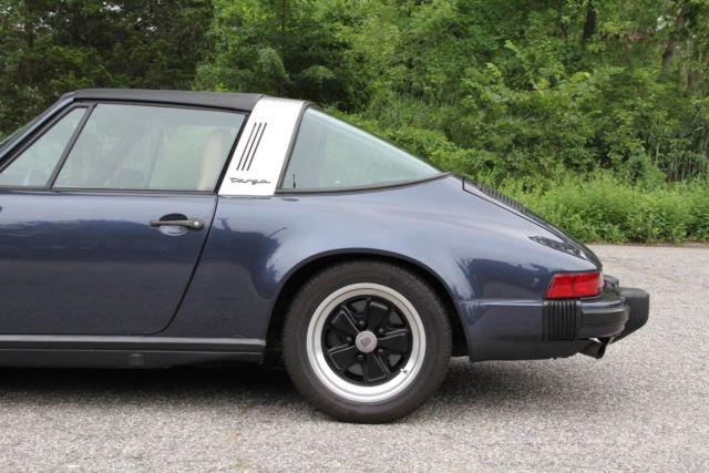 1985 porsche 911 94040 miles prussian blue targa flat 6 cylinder engine 3 2l 19 for sale. Black Bedroom Furniture Sets. Home Design Ideas