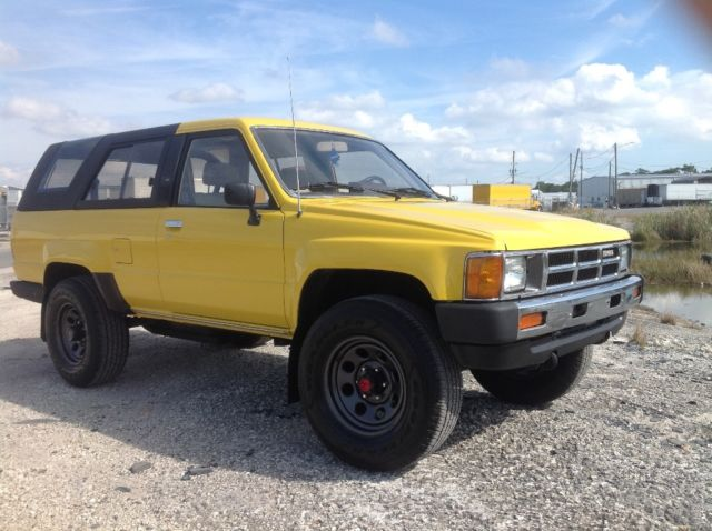 1985 Toyota 4runner Sr5 4 Cylinders 22re 5 Speed 4x4 For