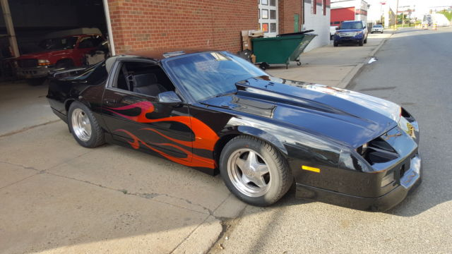1986 Chevy Camaro Z28 T Tops Black Flame Paint Job For Sale