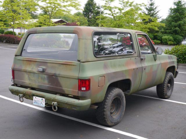 1986 Cucv M1009 Military Blazer 6 2l Diesel 4wd K5