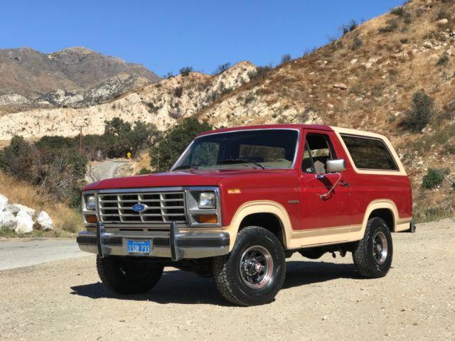 1986 Ford Bronco Eddie Bauer California Blue Plates For Sale Ford Bronco 1986 For Sale In Van Nuys California United States