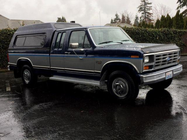 1986 ford f 250 extra cab 2dr auto 7 5l 460 v8 only 75k original miles 1 owner for sale ford f. Black Bedroom Furniture Sets. Home Design Ideas