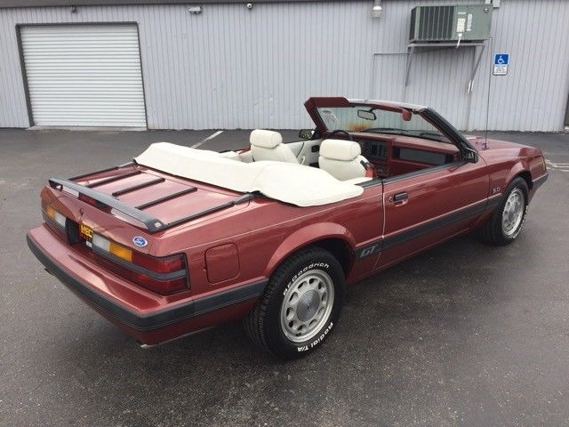 1986 ford mustang gt convertible 12 388 miles red 5 0l v8 ohv 16v automatic for sale ford. Black Bedroom Furniture Sets. Home Design Ideas