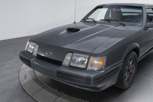 1986 ford mustang svo 11 027 miles dark gray hatchback 4 cylinder engine 2 3l 14 for sale ford. Black Bedroom Furniture Sets. Home Design Ideas