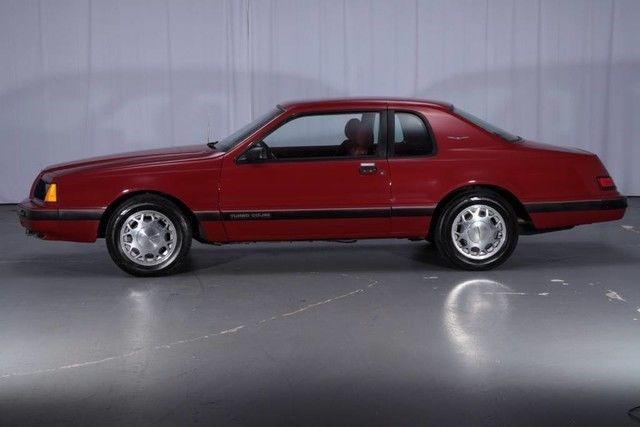 Ford Thunderbird Turbo Coupe Miles Burgundy Coupe L Cyl Engine