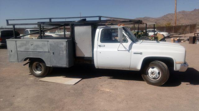 1986 Gmc Sierra 3500 Dually Utility Bed  Lumber Rack  305